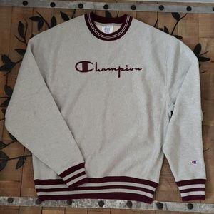 Champion Reverse Weave Crew Yarn Dye Rib Sweater
